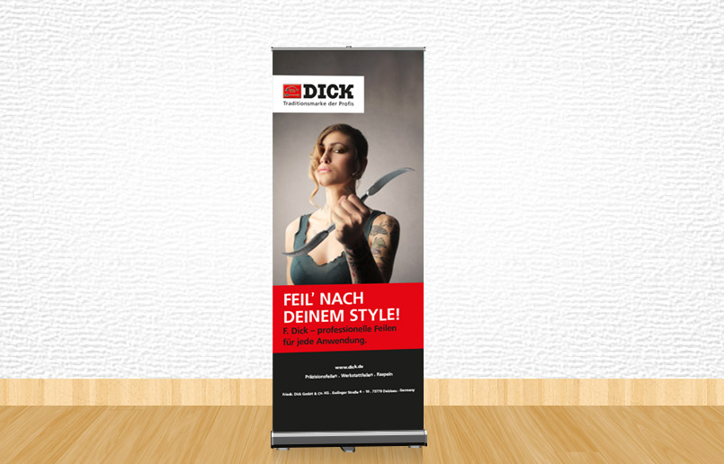 Free Outdoor Roll up Banner Stand Mockup PSD